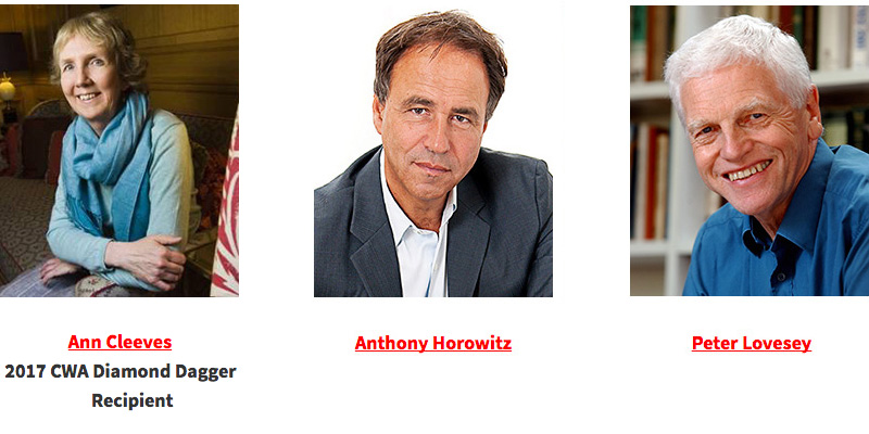 Ann Cleeves, Anthony Horowitz and Peter Lovesey