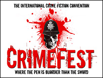 CrimeFest logo with tagline